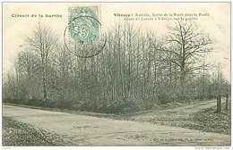 72.CIRCUIT DE LA SARTHE.N°27968.VIBRAYE.SORTIE DE LA FORET DANS LA ROUTE ALLANT DE LAVARRE A VIBRAYE - Vibraye