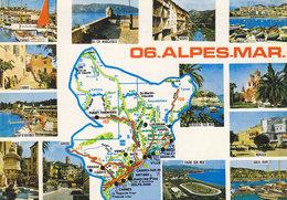 06 Carte Des Alpes Maritimes (2 Scans) - France