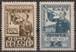 Russia 1929 Mi 363AX-364AX MH - Unused Stamps