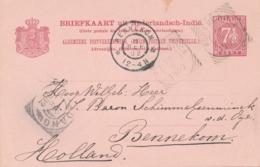 Nederlands Indië - 1902 - 7,5 Cent Briefkaart G16 Van VK FORT De KOCK Naar GR Bennekom / Nederland - Niederländisch-Indien