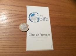 Etiquette Vin, Autocollant «COTES De PROVENCE - Cuvée Du Golfe» - Vino Rosado