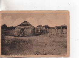 Cpa.Niger.Agadez.Cases Indigènes. - Niger