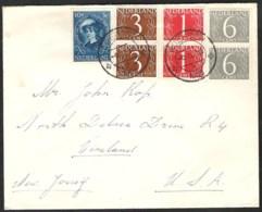 Brief Meerkleurenfrankering (totaal 30 Cent) 1956 Naar USA - Periode 1949-1980 (Juliana)
