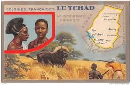 Tchad . N° 47441 . Carte Geographique . Lion Noir - Tchad