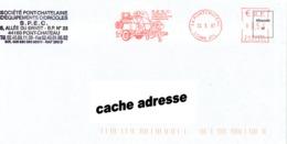 EMA Neopost R 407596 SPEC Cidrerie Ambulante Sur Lettre Entière 44 PONTCHATEAU Loire Atlantique Du 22/03/07 - Sonstige