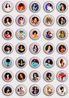 35 X Diana Ross Music Fan ART BADGE BUTTON PIN SET 3 (1inch/25mm Diameter) - Music