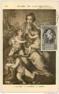TIMBRES.N°13162.MUSEE DU LOUVRE.A DEL SARTO.LA CHARITE.POUR NOS VICTIMES DE GUERRE.1946 - ....-1949