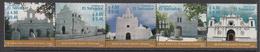 2003 El Salvador Churches Complete Strip Of 5 MNH - El Salvador