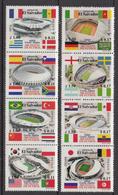 2002 El Salvador World Cup Football Korea  Complete Set Of 2 Strips Of 4 MNH - El Salvador