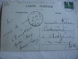 Aveze 72  Facteur Boitier Obliteration Sur Lettre - Marcophilie (Lettres)