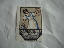 Erinnophilie  Fer A Repasser Carl Pechtner Nurnberg  Vignette Timbre - Commemorative Labels