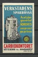 SWEDEN Ca 1920 Carbidkontoret Advertising Poster Stamp MNH - Cinderellas