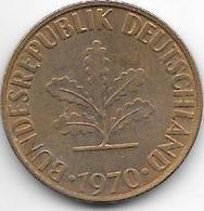 *10 Pfennig 1970 F   Km 108  Xf+ - 10 Pfennig