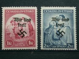 Sudetenland Rumberg Mi-Nr.343-344 ** Postfrisch Tadellos - Sudetenland