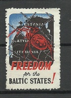 Anti Communist Vignette Freedom For Baltic States Spider Baltic Countries Map ! - Erinnofilie