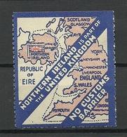 United Kingdom Northern Ireland No Custom Barrier MNH But Thin Spot - Cinderellas
