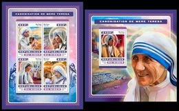 Niger 2016 Mother Teresa Klb + S/s MNH - Mother Teresa