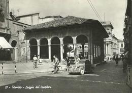 """2430 """" TREVISO-LOGGIA DEI CAVALIERI - FIAT 500 TOPOLINO,BICICLETTE-PUBBLICITA' SAPONETTA CADUM """" CART. POST.OR. SPED. - Treviso"""