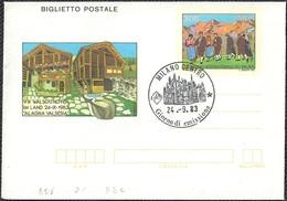 """BIGLIETTO POSTALE VIII° RADUNO WALSER IN VALSESIA L. 300 - 1983 - CATALOGO FILAGRANO """"B56"""" - FDC - 6. 1946-.. Repubblica"""