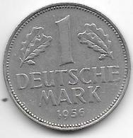 * 1 Mark  1956 G   Km 110 - [ 7] 1949-… : FRG - Fed. Rep. Germany