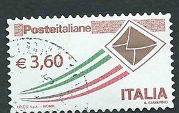 """Italia 2013; Posta Italiana € 3,60, Serie Ordinaria Detta """"busta Che Vola"""" - 6. 1946-.. Repubblica"""
