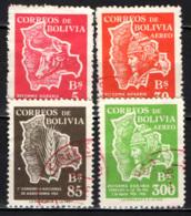 BOLIVIA - 1954 - RIFORMA AGRARIA - MAPPA DELLA BOLIVIA - USATI - Bolivia