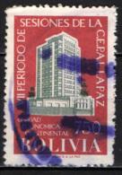 BOLIVIA - 1957 - PALAZZO DEL CEPAL A  SANTIAGO DEL CILE - USATO - Bolivia