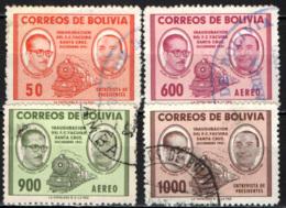 BOLIVIA - 1957 - INAUGURAZIONE DELLA LINEA FERROVIARIA DA SANTA CRUZ A YACUIBA - USATI - Bolivia