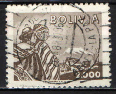 BOLIVIA - 1960 - INDIANI D'AMERICA E MONTE ILLIMANI - USATO - Bolivia
