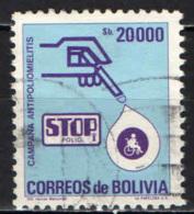 BOLIVIA - 1985 - CAMPAGNA ANTIPOLIO - USATO - Bolivia