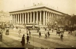 France Paris La Bourse Vue Animee Ancienne Photo 1890 - Fotos