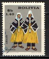 BOLIVIA - 1968 - FOLCLORE: COSTUME TRADIZIONALE DI UJUSIRIS - USATO - Bolivia