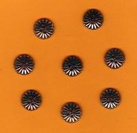 8 Boutons Fantaisie Couleur Métal Cuivré Très Jolis (13mm)) - Boutons