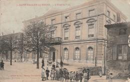 Drome : SAINT-VALLIER-sur-RHONE : L'hotel De Ville : Animée - Colorisée - Otros Municipios