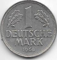 * 1 Mark  1968 F   Km 110    Xf - [ 7] 1949-… : FRG - Fed. Rep. Germany