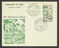 NIGER / 500F Protection De La Faune / Lettre Cover FDC / NIAMEY 1960 - Eléphants
