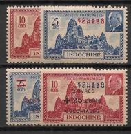 Kouang Tchéou - 1941-44 - N°Yv. 138 - 139 - 156 - 157 - Pétain - Neuf Luxe ** / MNH / Postfrisch - Kouang-Tchéou (1906-1945)