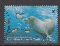 Australian Antarctic S 146 2001 Leopard Seals 45c Adult Underwater,used, - Australian Antarctic Territory (AAT)
