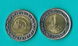 Egypt 1 Pound 2019 - Bimetal (2) - Egitto