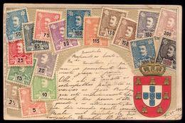 Postal Filatelico Com Selos D.Carlos. Old Postcard OTTMAR ZIEHER D.R.G.M. Stamps Portugal 1900s - Lisboa