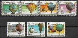 KAMPUCHEA  1983  ASCESA DELL'UOMO NELL'ATMOSFERA YVERT. 393-399 USATA VF - Kampuchea