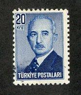 W-12321 Turkey 1948 Scott#972 (o) Offers Welcome - 1921-... République