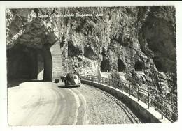 """2463 """" VAL VAJONT - NUOVA STRADA LONGARONE -ERTO - VW MAGGIOLINO ANNI '40 """" CART.ORIG. SPED. - Belluno"""