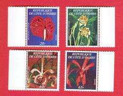 COTE D IVOIRE 1978 ORCHIDEES IVOIRIENNES SERIE NEUVE LUXE ** COMPLETE 462 A . 462 B. 462 C. 462 D. COTE 270 EUROS - Ivoorkust (1960-...)
