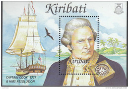 KIRIBATI, 2002 CAPT COOK MINISHEET MNH - Kiribati (1979-...)
