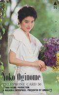 Télécarte Japon / 110-51371 - Femme Musique - YOKO OGINOME - Music Singer Girl Japan Phonecard  3823 - Musique