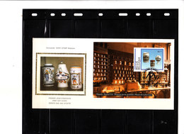 A Saisir - FDC SOIE  Bl. 69 2568 - Porcelaine Belge - Pots En Faïence De Delft - FDC