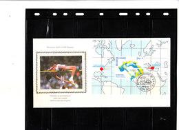 A Saisir - FDC SOIE Bl. 72 2648 - Centenaire Des Jeux Olympiques Modernes - Saut En Hauteur - FDC