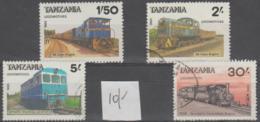 TANZANIA - 1985 Trains (one Missing). Scott 284-286, 228. Used - Tanzania (1964-...)