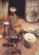 AFRIQUE,AFRICAINE,CONGO,TAMPON AU DOS POINTE NOIRE,2 TIMBRES,COMMERCE DE BEIGNET,VENDEUSE - Pointe-Noire